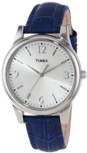 Timex Dark Blue Croco Patterned Ladies Watch T2P093