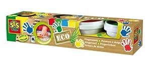 SES Eco - Pintura de dedos, multicolor (24926)