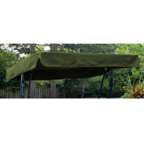 Water Resistant 2 Seater Replacement Canopy ONLY for Swing Seat/Garden Hammock in Olive Green Gardenista
