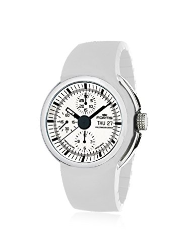 Fortis 661.20.32 Si.02 Men's Spaceleader Chronograph White Dial Watch
