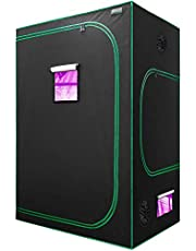 Lumo-X Grow Tent Extra Thick 600D Non-Toxic Mylar Hydroponics with Observation Window Floor Tray Tool Bag for Indoor Plant Grow with Grow Light