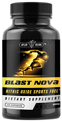Nitric Oxide Supplements L Arginine Blend, Energy Pills Pre-Workout for Men - Promotes Muscle Growth Strength, Vascularity - by Influx Inspire 60 Capsules (Best Energy Supplement For Studying)