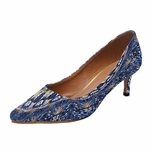 Scarpe Da Donna Low Cost Con Tallone Gattino A Punta Tacco Scarpe Caleidoscopio, Tessitura A Mosaico Multi 1