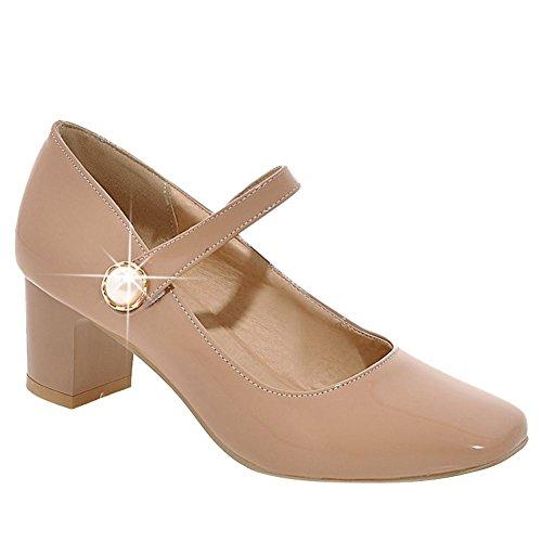 Mee Shoes Damen chunky heels vierkant Mary Jane Halbschuhe