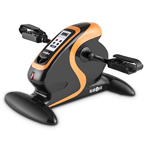 Klarfit Cycloony MiniBike Bewegungstrainer Motor 120kg Fernbedienung schwarz orange