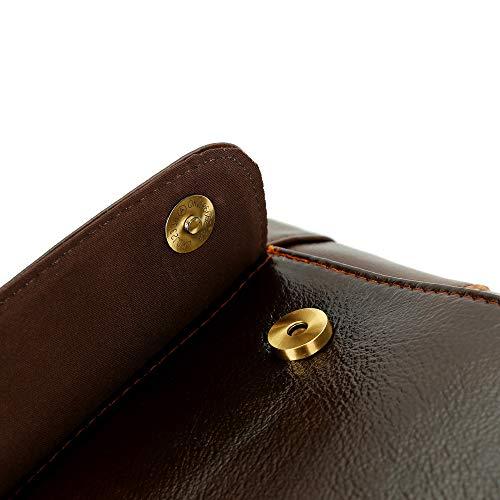 para Leather de Messenger computadora hombre Portátil del 14 Leisure hombro Laptop bolso 1 XBCC pulgadas de la bag maletín mochila la bolso Business Vintage de impermeable wFAnqgx