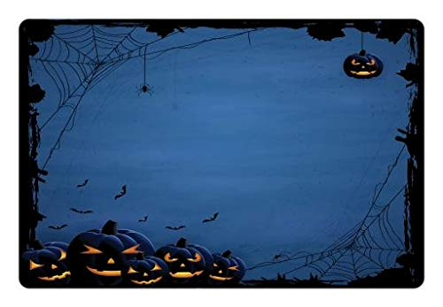 Lunarable Halloween Pet Mat for Food and Water,