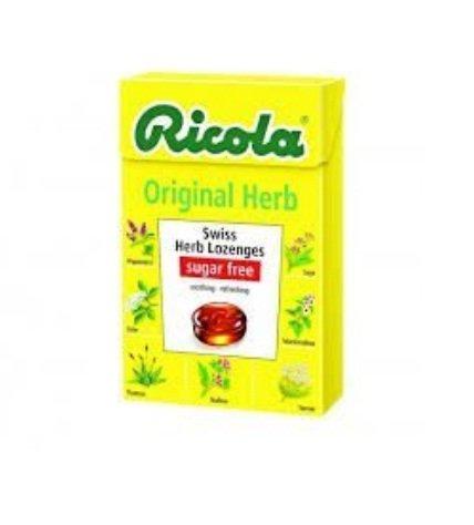 Original Flavor Lozenges - Ricola Swiss Herb Herbal Candy Sugar Free Original Flavor, Swiss herb lozenges 40g x 2box