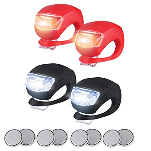 Bike-light-4Pcs-LED-Silicone-Bike-Bicycle-Front-Rear-Lights-Set-Push-Cycle-Clip-Light-Hot-Selling-By-Ugood