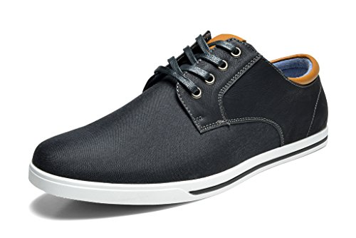 Bruno MARC RIVERA-01 New Men's Classic Lace Up Casual Oxfords Sneakers Shoes BLACK SIZE 8