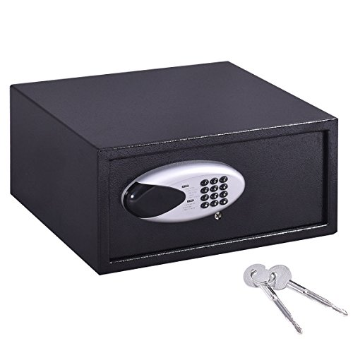"""Safstar Electronic Digital Security Lock Box Wall Cabinet Safe for Jewelry Cash Valuable Home Office Hotel (16.9"""" x 14.4"""" x 7.8"""")"""