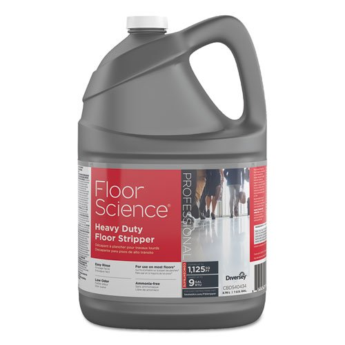 Floor Science Floor Stripper (Johnson Diversey CBD540434 Floor Science Heavy Duty Floor Stripper, Liquid, 1 Gal Bottle, 4/carton)