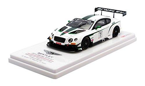 True Scale Miniaturen – tsm154316 – Bentley Continental GT3 – 24h Spa 2014 – Maßstab 1/43 – Weiß/Grün Metall