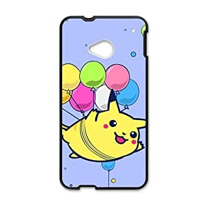 Happy Lovely Pokemon happy Pikachu Cell Phone Case for HTC One M7