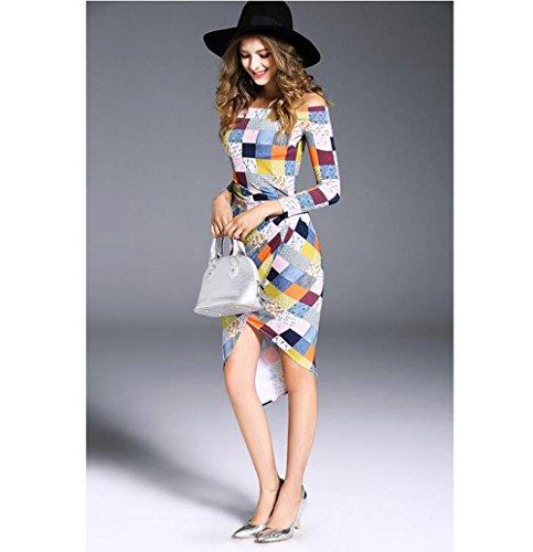 Las mujeres viste los paquetes de la tela escocesa de los adelgaza la gasa expuesta del hombro , l , colors