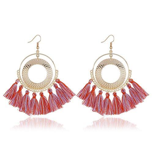 Aworth Tassel Earrings Women Punk Big Boho Stud Earrings Vintage Statement Earrings Fashion Jewelry ()
