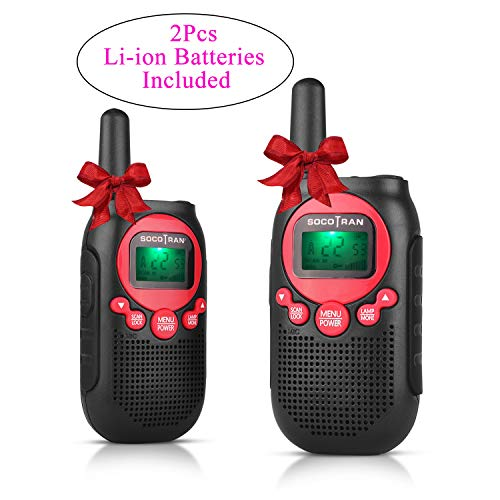 (Walkie Talkies for Kids FRS/GMRS Rechargeable Walkie Talkies for Adults 0.5W 22CH VOX Two Way Radio with Rechargeable Li-ion Battery Mini Two Way Radios for Camping Outdoor Boys Girls)