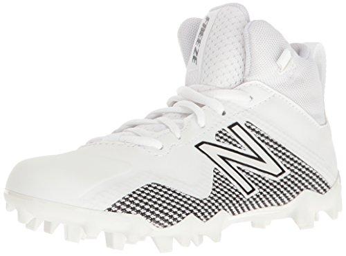 New Balance Boys' Freeze LX JR Lacrosse Shoes, White/Black, 4.5 W US Big Kid