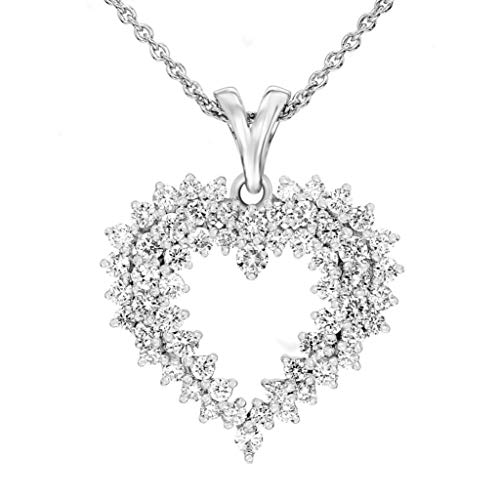 100% Real Diamond Necklace Luxury Heart Necklace 1ct IGI Certified Lab Grown Diamond Pendant Necklaces For Women Lab Created Diamond Necklace SI-GH Quality 10K Real Diamond Pendant