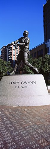 Posterazzi GLP469052LARGE Poster Print Collection Statue Of Tony Gwynn At Petco Park San Diego California Use Poster Print By Panoramic Images, (18 X 6), Multicolored