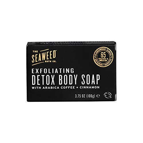 The Seaweed Bath Co. Exfoliating Detox Body Soap, Unscented, Natural covid 19 (Firming Body Wash coronavirus)