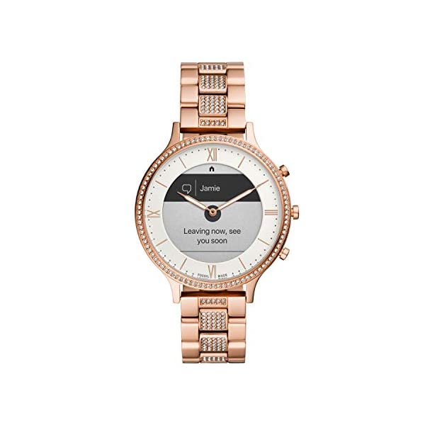Fossil Women's Charter HR Heart Rate Stainless Steel Hybrid Smartwatch