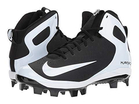 Nike Men's Alpha Huarache Pro Mid Baseball Cleats (9, Black/White/White)