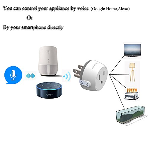 Durable Smart Plug WiFi Socket Outlet Remote Control 10 Amp Smart Life Adapter for Home Improvement, Works with Alexa, Google Home(FCC,ROHS,CE,Listed) by Jimtye (Image #4)