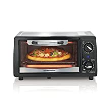 Hamilton Beach 31134C 4-Slice Toaster Oven, Black and Stainless Steel