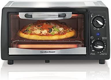 Hamilton Beach 31134 4 Slice Capacity Toaster Oven, Black, 1,