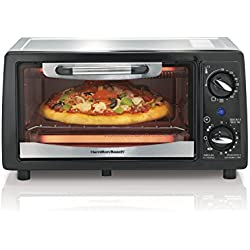Hamilton Beach 31134 4 Slice Capacity Toaster Oven, Black