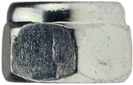 verzinkt farblos 10 St/ück Reidl Sechskantmuttern mit Klemmteil niedrige Form M 10 DIN 985 10 galv