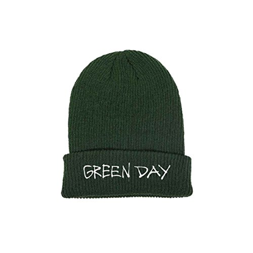 (Green Day Beanie Hat Band Logo Revolution Radio Official Green)