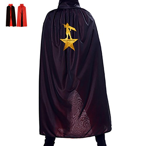 Adult Coat Soldier Costumes Red (Halloween Cosplay Custome Cloak Costume Black Red Print For Party EX)