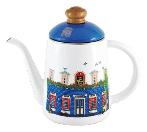 후지 법랑 후지호로 드립백 커피 포트 1L 11cm 메리 하우스 MM-11CP-H