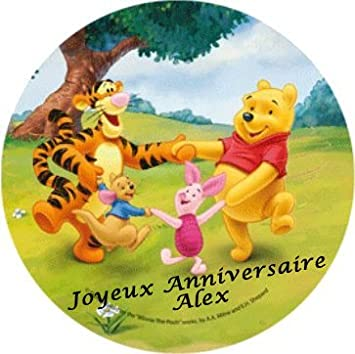 Disque Pate A Sucre Winnie L Ourson Disney Personnalise Avec Votre