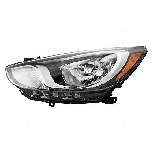 (Drivers Halogen Headlight Headlamp Standard Type Lamp Replacement for 12-14 Hyundai Accent 92101-1R010 AutoAndArt)