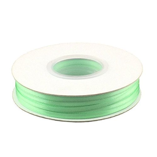 1/8in. Wide Double Faced Satin Ribbon - Mint (100 yard (Ribbon Mint Tins)