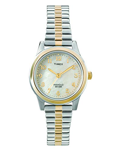 Timex Women's T2M828 Essex Avenue Two-Tone Stainless Steel Expansion Band Watch ()