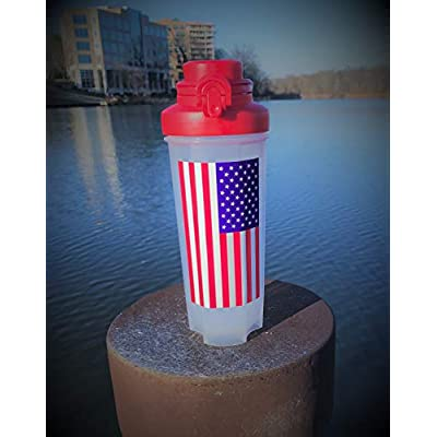American Flag Decal (Pack of 3) All Weather, Ultra UV Resistant, Waterproof, Heat Resistant (Colors: Lighter Blue, Lighter Red): Automotive
