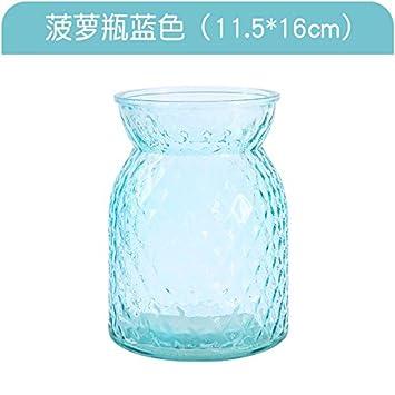 XXAICW Pequeños floreros de cristal transparente de Jacinto de agua florero vidrio botella florero plantas hidropónicas