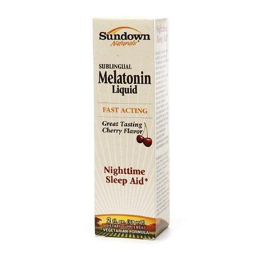 Sundown Naturals Sublingual Melatonin Liquid, Cherry 2 fl oz (pack of 2) For Sale