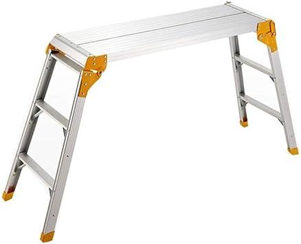 Multifuncional Plataforma de la escalera, no aislado aleación de aluminio de dos pasos de escalera Garaje/Car Wash Lavado de coches Escalera plegable Tamaño: 30 * 8 * 100 Cm estable: Amazon.es: Bricolaje y herramientas