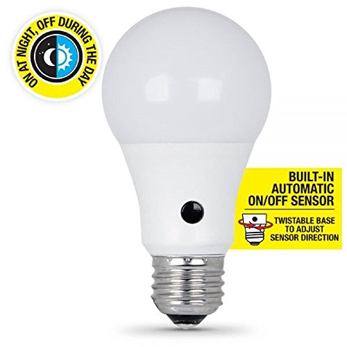 Feit BPA800/850/DD/LED Dusk-to-Dawn 800 Lumen 5000K 9.5 Watt Medium Base Non-Dimmable LED
