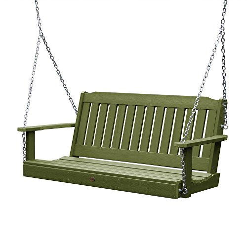 highwood AD-PORL2-SGE Lehigh Porch Swing, 4 Feet, Dried Sage