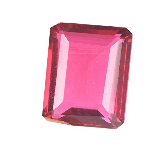 gemhub 55.50 Ct. Pink Tourmaline Gemstone, Ring Size Pink Tourmaline, Emerald Cut Pink Tourmaline Loose Gemstone D-1978 - Emerald Cut Pink Tourmaline Ring