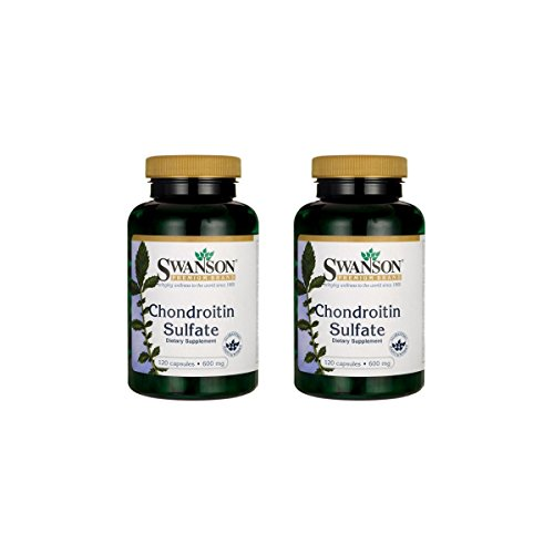 (Swanson Chondroitin Sulfate 600 mg 120 Caps 2 Pack)