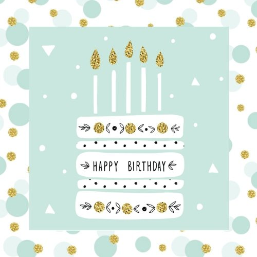 Happy Birthday: Guest Book Gold Color-FILLED Fluer de Lis End Pages Gifts for Women for Girls for teens 26th 27th 28th 29th 31st 32nd 33rd 34th 36th ... for Women,Birthday Cake Toppers) (Volume 1)