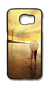 Samsung Galaxy S6 Edge Customized Unique Hard Black Case Under The Rainbow Kiss Case S6 Edge Cover PC Case