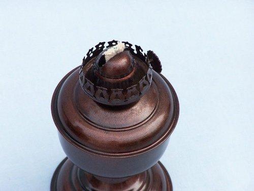 Hampton Nautical  Antique Copper Table Oil Lamp, 10'', Copper